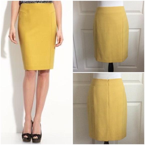 eb31b6b2e Halogen Skirts | Mustard Pencil Skirt | Poshmark